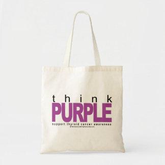 Thyroid Cancer Think Purple Tote Bag