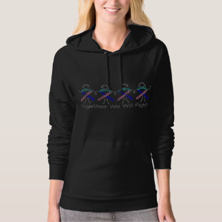 Thyroid Cancer Together We Will Fight Hoodie