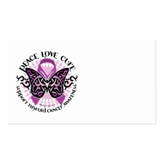 Thyroid Cancer Tribal Butterfly Business Card Templates