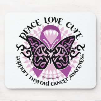 Thyroid Cancer Tribal Butterfly Mouse Pad