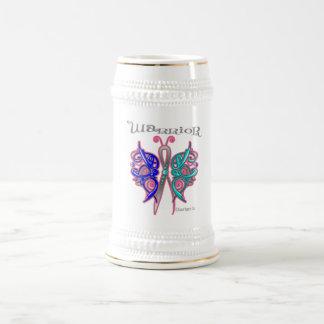 Thyroid Cancer Warrior Celtic Butterfly 18 Oz Beer Stein