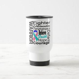 Thyroid Cancer Warrior Collage Stainless Steel Travel Mug