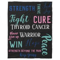 Thyroid Cancer Warrior Fleece Blanket