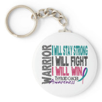 Thyroid Cancer Warrior Keychain