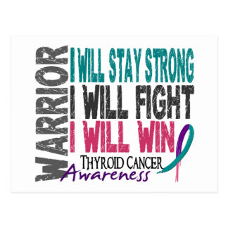Thyroid Cancer Warrior Postcard