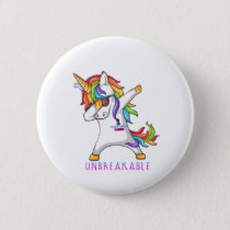 Thyroid Cancer Warrior Unbreakable Button