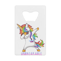 Thyroid Cancer Warrior Unbreakable Credit Card Bottle Opener