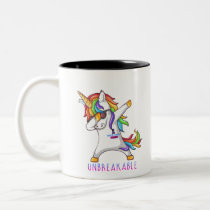 Thyroid Cancer Warrior Unbreakable Two-Tone Coffee Mug