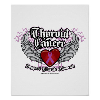 Thyroid Cancer Wings Posters