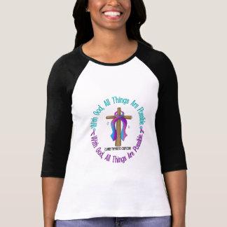 Thyroid Cancer WITH GOD CROSS T Shirt