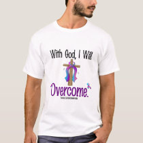 Thyroid Cancer With God I Will Overcome T-Shirt