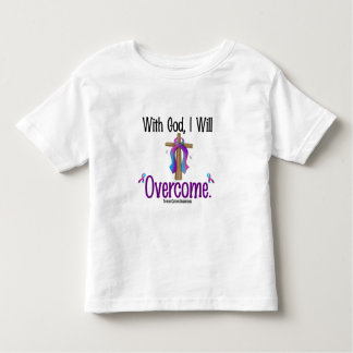 Thyroid Cancer With God I Will Overcome Toddler T-shirt