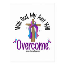 Thyroid Cancer With God My Aunt Will Overcome Postcard