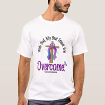 Thyroid Cancer With God My Best Friend Will Overco T-Shirt