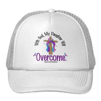 Thyroid Cancer With God My Daughter Will Overcome Trucker Hat