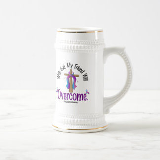 Thyroid Cancer With God My Friend Will Overcome Beer Stein