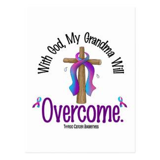 Thyroid Cancer With God My Grandma Will Overcome Postcard