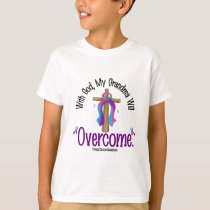 Thyroid Cancer With God My Grandma Will Overcome T-Shirt