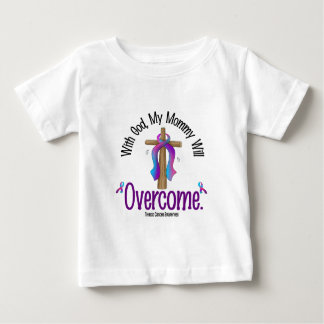Thyroid Cancer With God My Mommy Will Overcome Baby T-Shirt