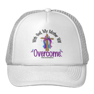 Thyroid Cancer With God My Mother Will Overcome Hats