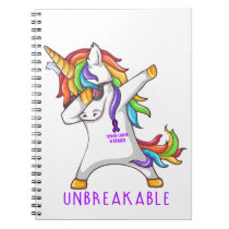 THYROID CANCERTHYROID CANCER Warrior Unbreakable Notebook