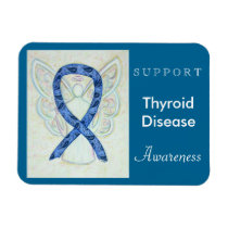 Thyroid Disease Awareness Angel Custom Magnet