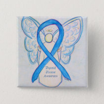 Thyroid Disease Awareness Blue Angel Ribbon Pins