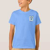Thyroid Disease Awareness Blue Ribbon Custom Tee