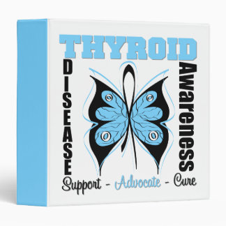 Thyroid Disease Awareness Butterfly Binder