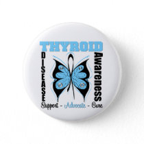 Thyroid Disease Awareness Butterfly Button