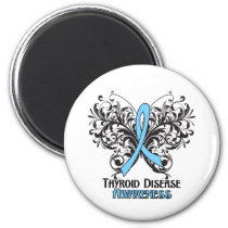 Thyroid Disease Awareness Butterfly Magnet