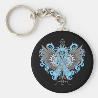 Thyroid Disease Awareness Cool Wings Basic Round Button Keychain