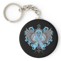 Thyroid Disease Awareness Cool Wings Keychain