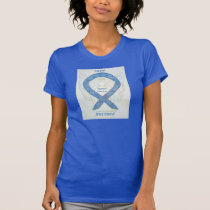 Thyroid Disease Awareness Paisley Blue Angel Shirt
