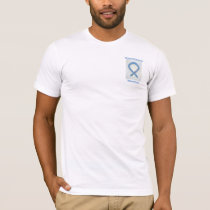 Thyroid Disease Awareness Paisley Blue Ribbon Tee