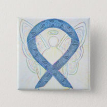 Thyroid Disease Awareness Paisley Ribbon Angel Pin
