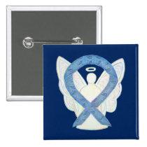 Thyroid Disease Awareness Paisley Ribbon Angel Pin