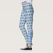 Thyroid Disease Awareness Ribbon Angel Leggings
