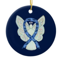 Thyroid Disease Awareness Ribbon Angel Ornament