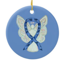 Thyroid Disease Awareness Ribbon Angel Ornaments