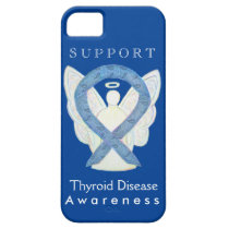 Thyroid Disease Awareness Ribbon Angel Phone Case
