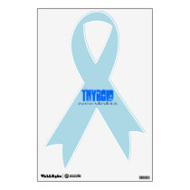 Thyroid Disease awareness ribbon Wall Decal