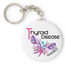 Thyroid Disease BUTTERFLY 3.1 Keychain
