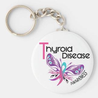 Thyroid Disease BUTTERFLY 3.1 Keychain