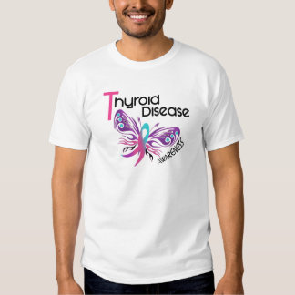 Thyroid Disease BUTTERFLY 3.1 Tee Shirts