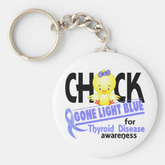 Thyroid Disease Chick Gone Light Blue 2 Keychain