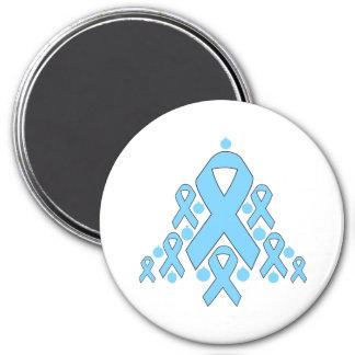 Thyroid Disease Christmas Ribbon Tree 3 Inch Round Magnet