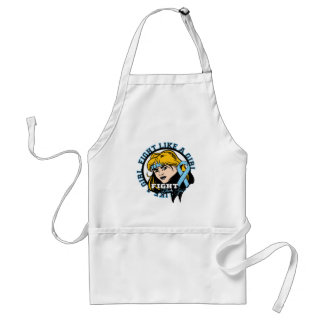 Thyroid Disease Fight Like A Girl Attitude Adult Apron