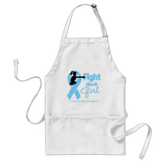 Thyroid Disease Fight Like A Girl  Knock Out Apron