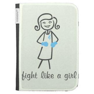 Thyroid Disease Fight Like A Girl (Retro) Kindle Cases